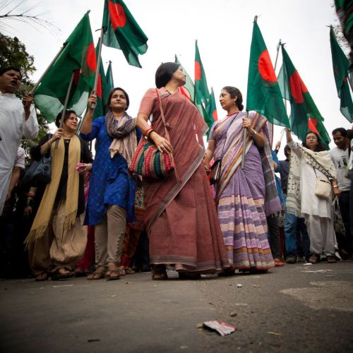 Bangladeshi Women Are Front & Center in the Historic Shahbagh Protests. Image Credit: BDNews