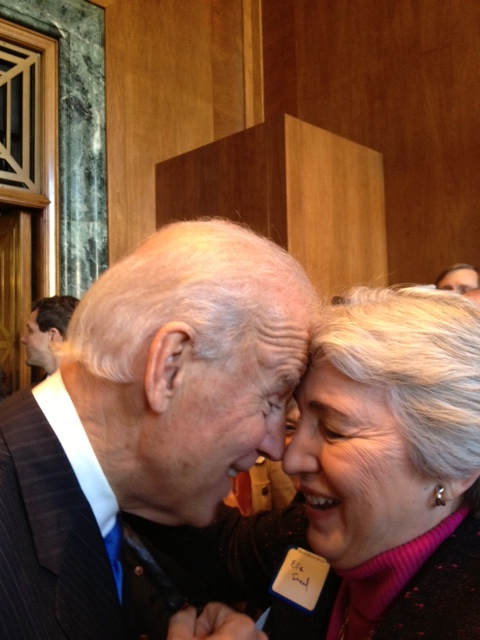 Joe Biden With American Feminist Icon, Ellie Smeal, My Boss & Long-Time Mentor.