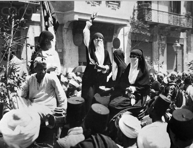 Huda Shaarawi's Organizing Skills Brought Egyptian Women Onto the Streets to Protest British Colonial Presence in Egypt. Image Credit: Flickr