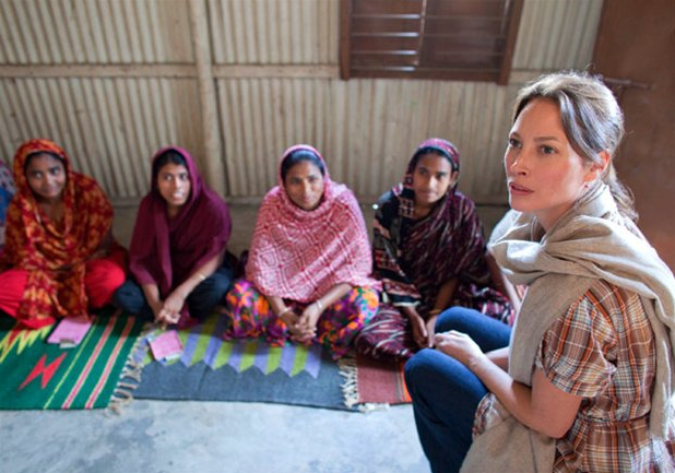 Christy Turlington Burns on a Field Visit in Matlab, Bangladesh. Image Credit: Flickr