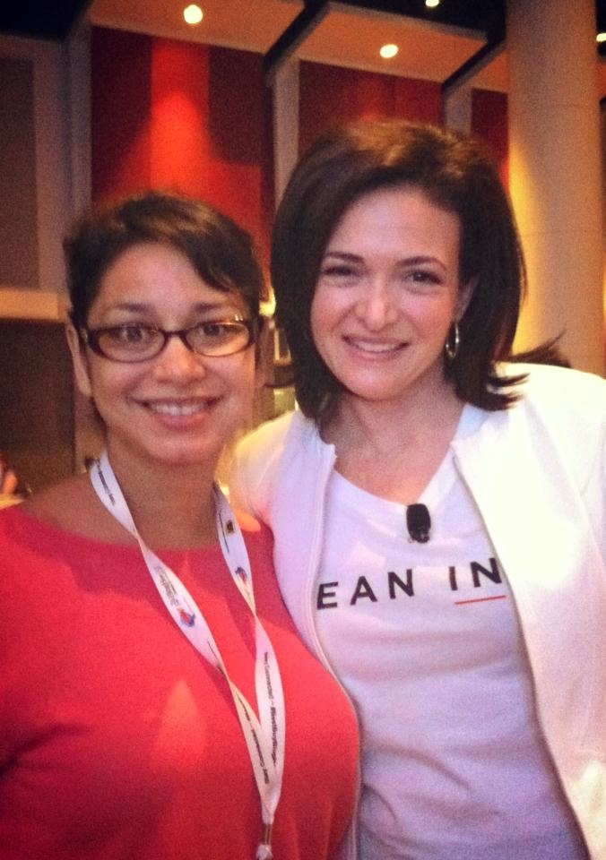 """Anushay's Point"" Editor-in-Chief, Anushay Hossain With Facebook Chief Operating Officer, Sheryl Sandberg at #BlogHer13 in Chicago Last Week."