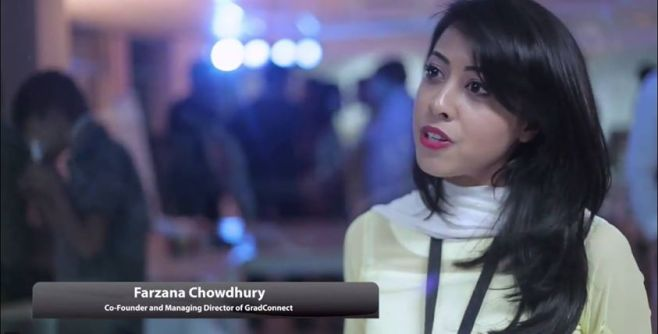 As Managing Director and Co-Founder of GradConnect, a career information and advisory service for young professionals, Farzana Chowdhury is a living example of how women in a Muslim democracy like Bangladesh are taking the reigns of their lives by becoming their own bosses. Image Credit: StartUpDhaka.