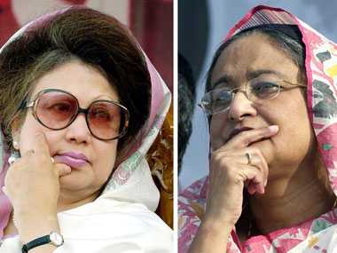 Bangladesh's 'Battling Begums' are perhaps the most high-profile living examples of South Asian dynastic politics. Image Credit: Fire Post.