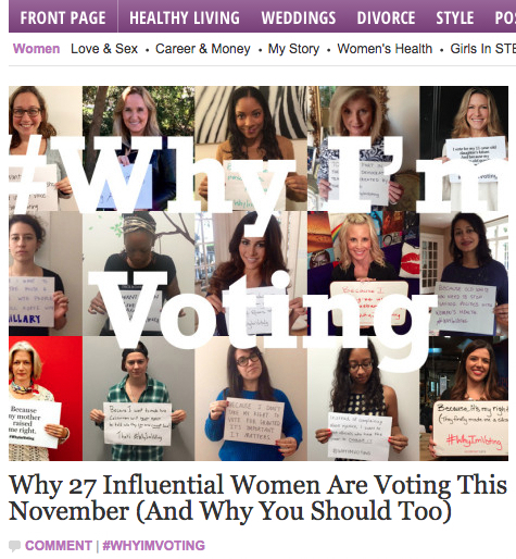 Excited to be on this HuffPost Women list about #WhyImVoting.