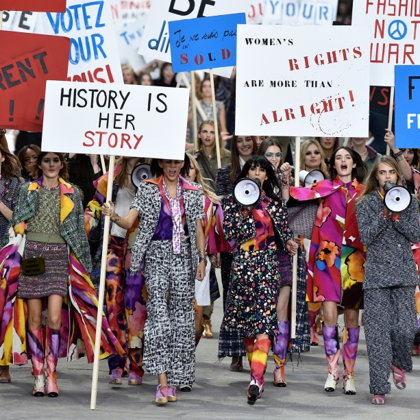 Feminism was so cool in 2014 even fashion label Chanel jumped on the bandwagon. Image Credit: Flickr.