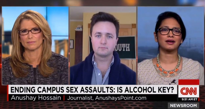On CNN talking campus sexual assault & the Dartmouth alcohol ban.